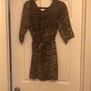 Snake print mini dress!
